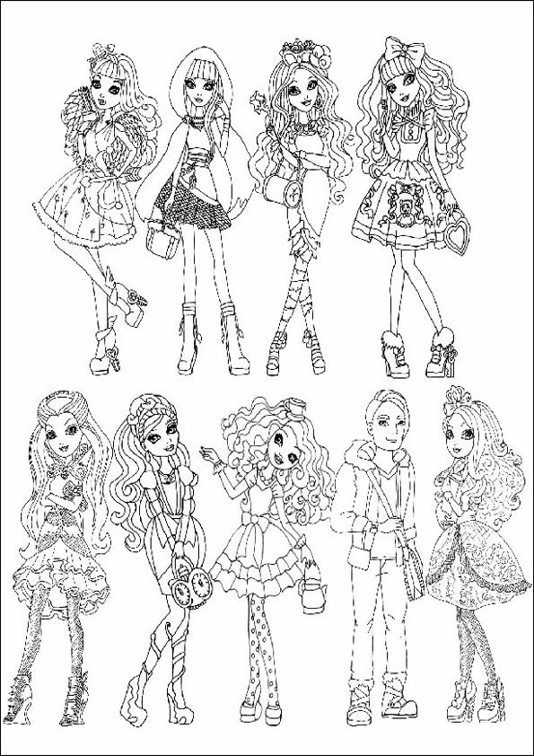 Ever After High ausmalbilder 11
