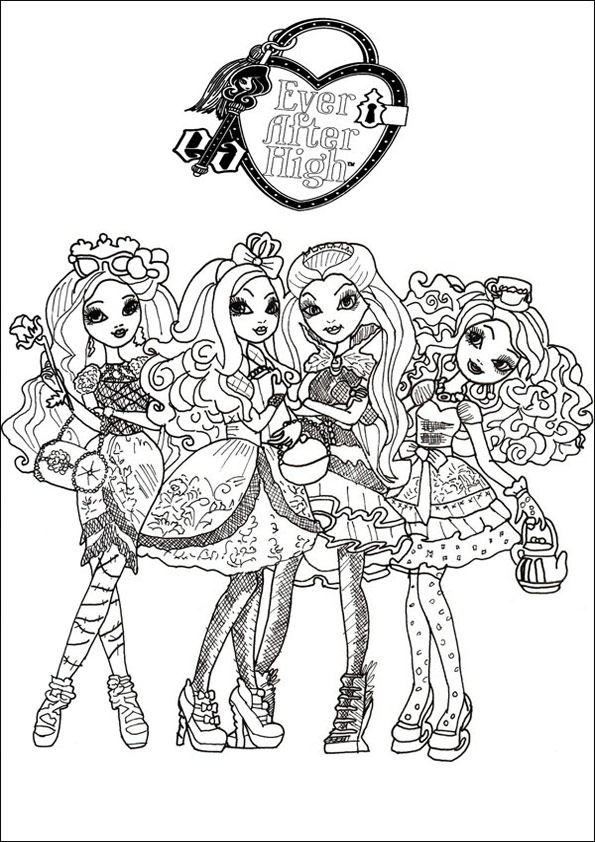 Ever After High ausmalbilder 14