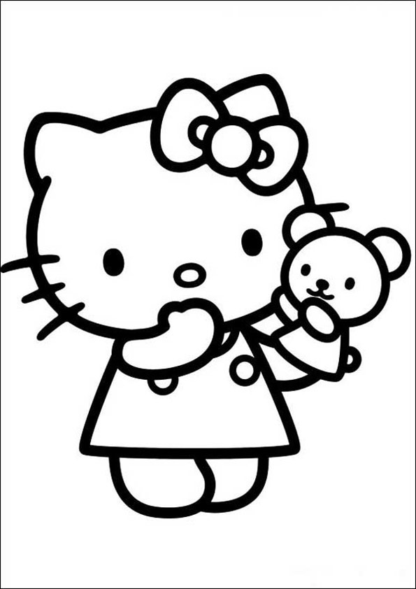 Hello Kitty ausmalbilder 14