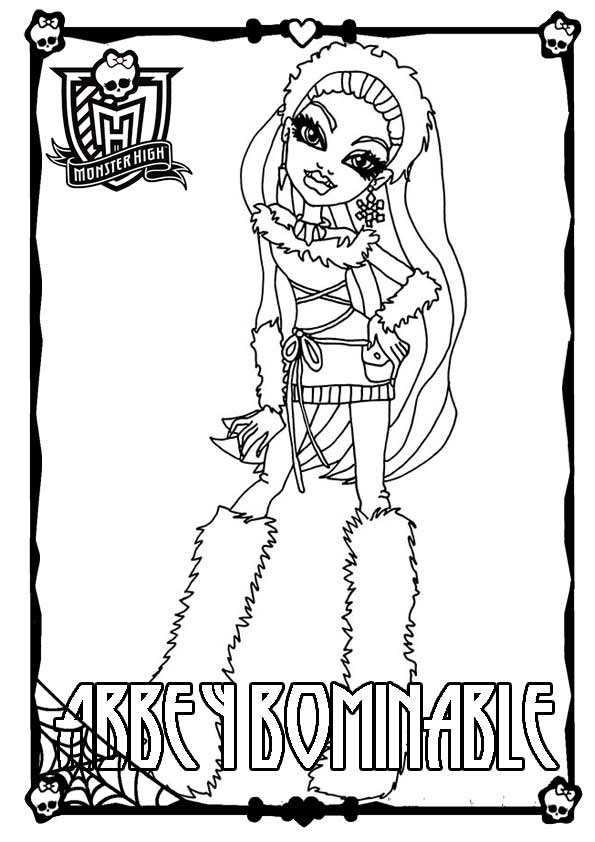 Monster High ausmalbilder 02