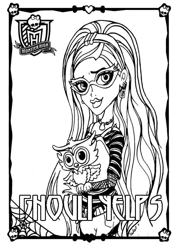 Monster High ausmalbilder 09