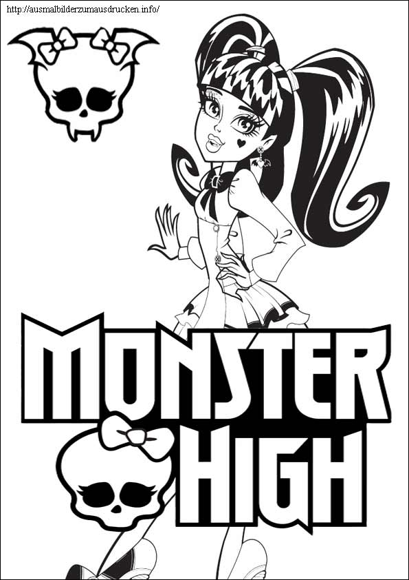 Monster High ausmalbilder 11
