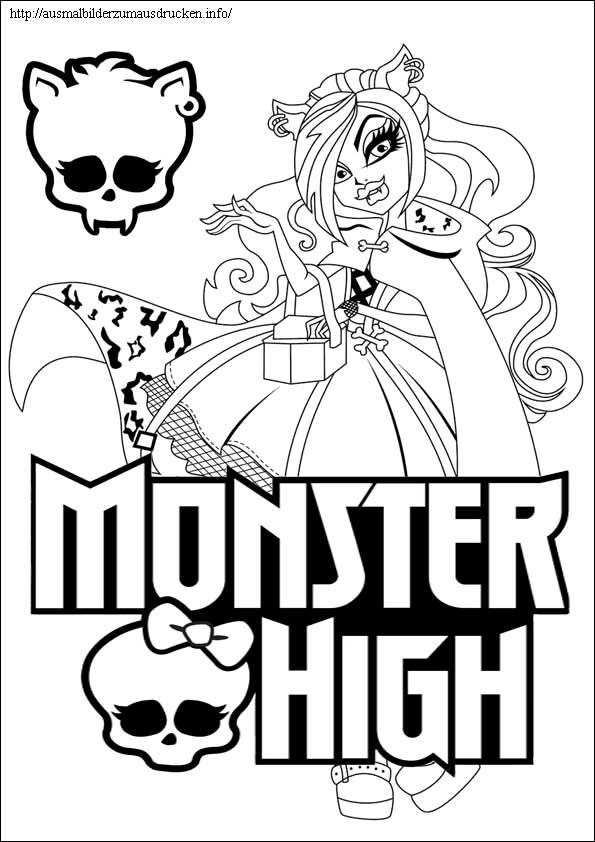 Monster High ausmalbilder 12