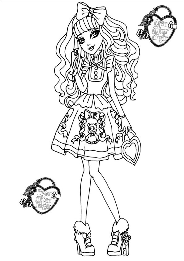 Ever After High zum ausmalen 27
