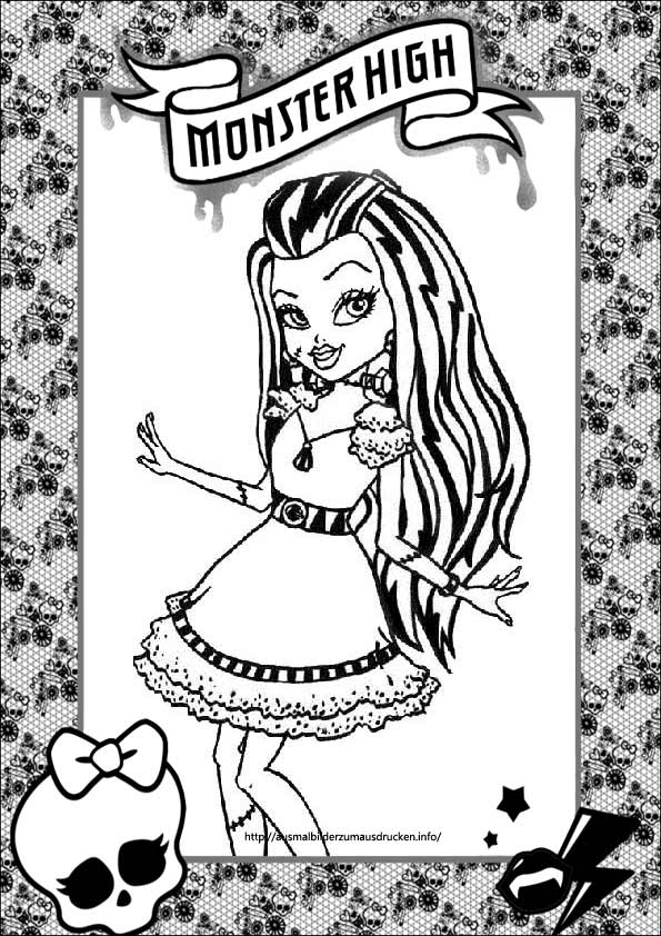 Monster High zum ausmalen